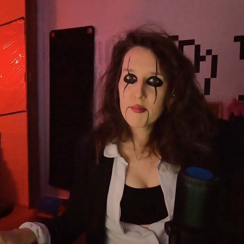 me in my room with alice cooper makeup on
