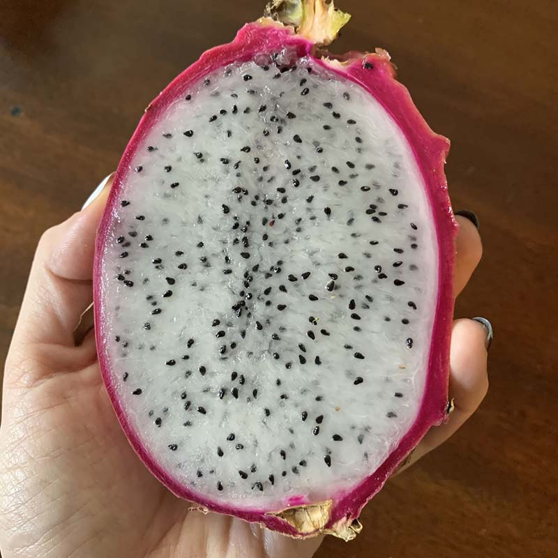 a half of a dragonfruit